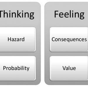 thinking vs feeling graphic